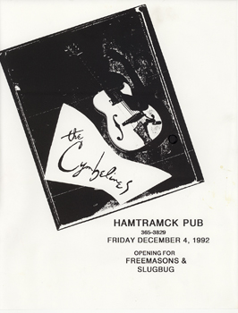 Poster for 12.04.1992 - Hamtramck, MI