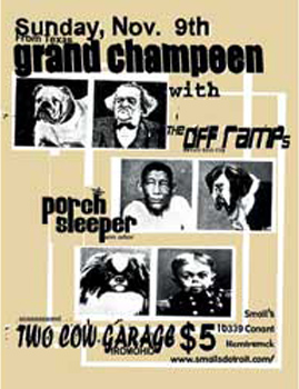Poster for 11.09.2003 - Hamtramck, MI