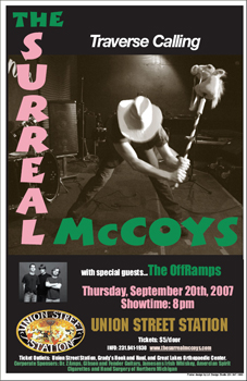 Poster for 09.20.2007 - Traverse City, MI