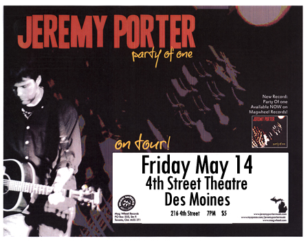 Poster for 05.14.2010 - Des Moines, IA