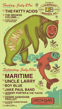 Poster for 07.30.2011 - Milwaukee, WI