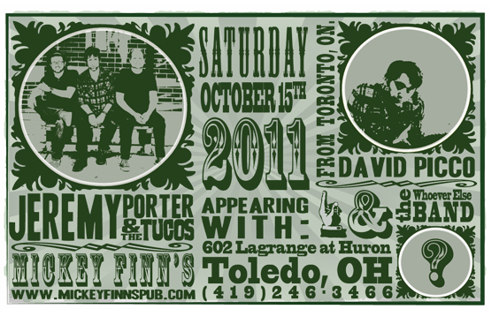Poster for 10.15.2011 - Toledo, OH