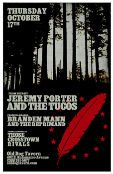 Poster for 10.17.2013 - Kalamazoo, MI